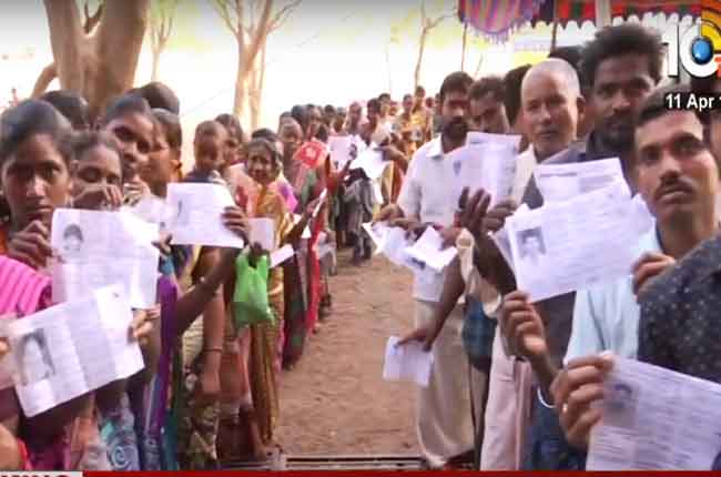 voters rush polling booths in andhra pradesh