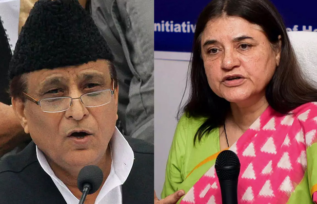 Azam Khan, Maneka Gandhi, Face, Campaign Ban, Poll Code Violation, jayapradha
