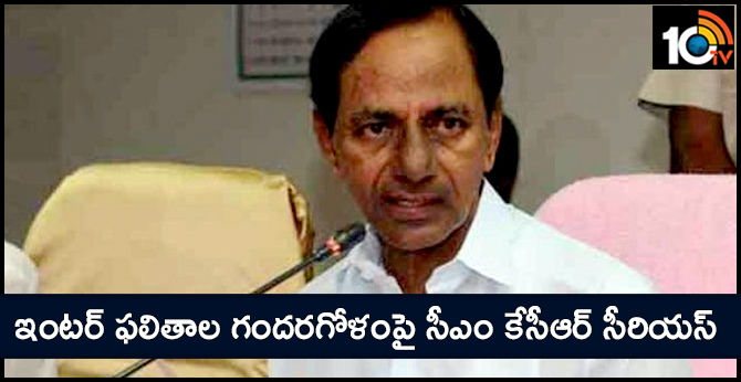 CM KCR Serious on the Confusion of Inter Results