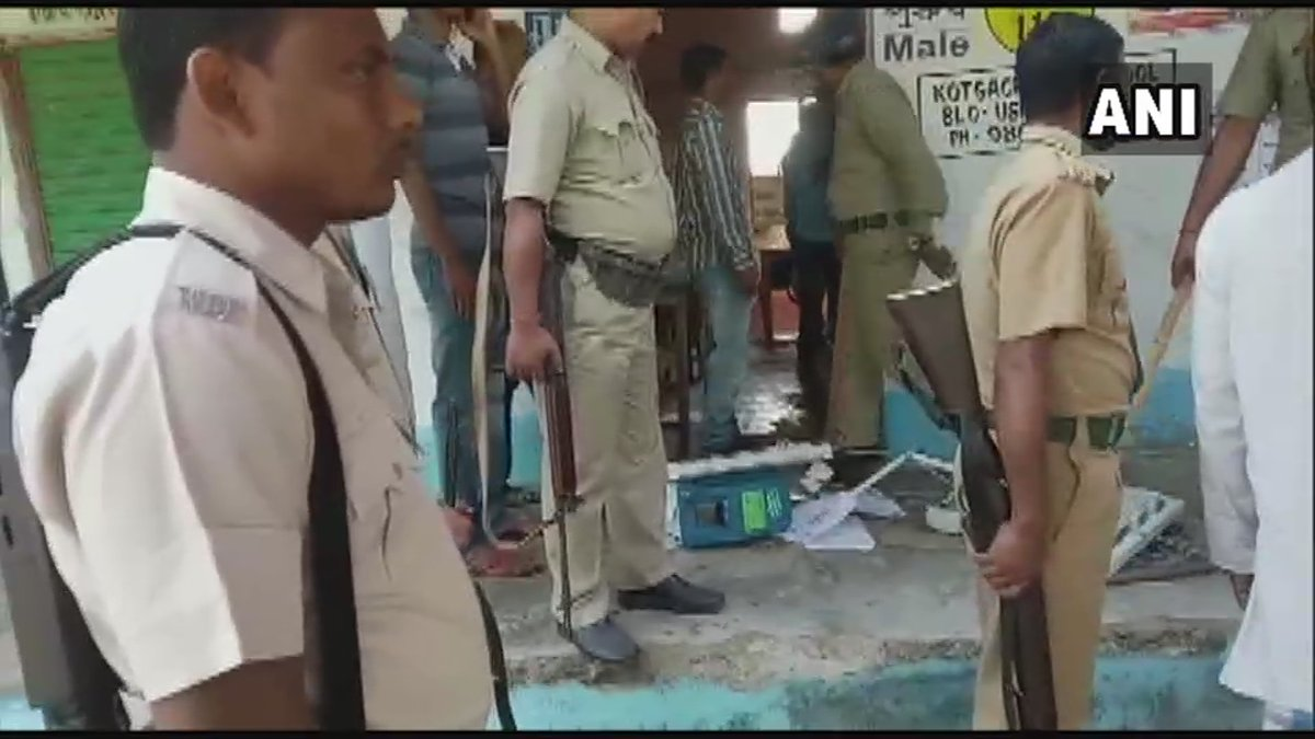 An EVM was vandalized during a clash between TMC and BJP workers in Chopra