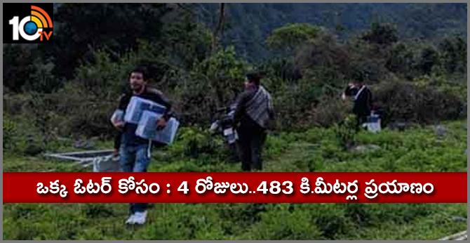 EC Officials Travel 4 days 483 km