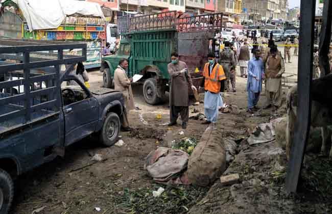 Heavy blast in Quetta Market in Pakistan ..
