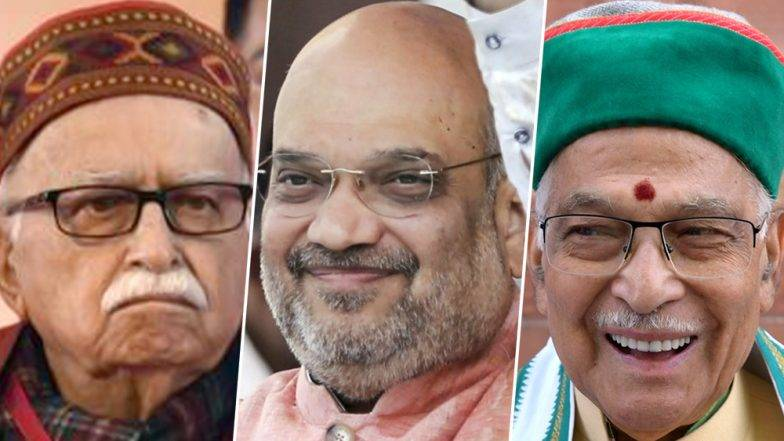 BJP President Amit Shah visits senior BJP leaders Murli Manohar Joshi  and LK Advani