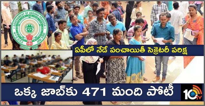Panchayat Secretaries recruitment test on Today