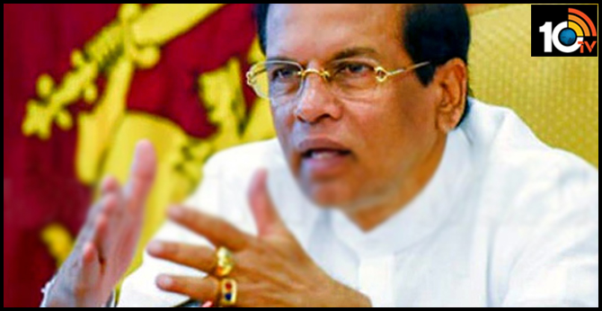 Sri Lanka President Mythripala Sirisena condemned bomb blasts in kolambo