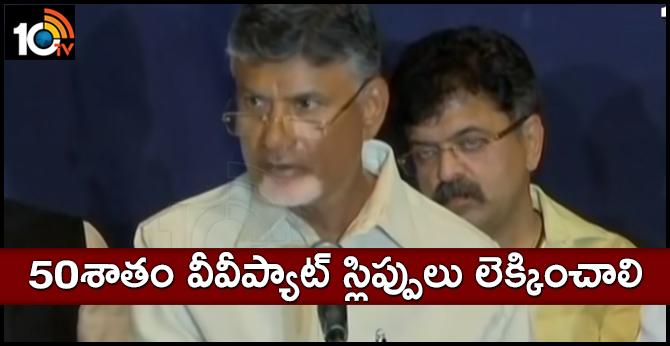 Suspicions on EVMs says Chandrababu