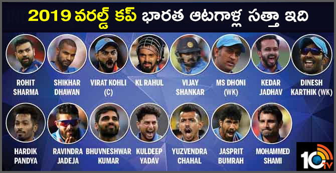 TEAM INDIA INDIVIDUAL STRENGTH FOR 2019 WORLD CUP