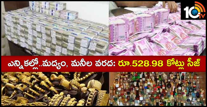 country wide lok sabha elections Rs 528.98 crore seized in Task Force police checking