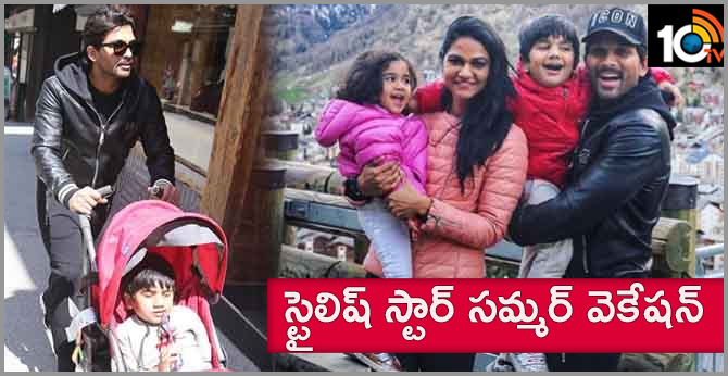 Allu Arjun Family Summer Vacation Pics Goes Viral