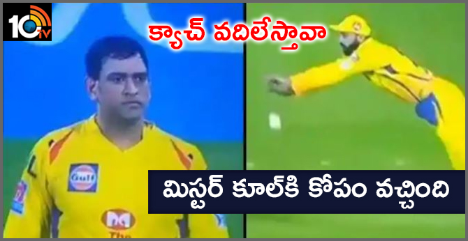 MS Dhoni Gets Angry on Murali Vijay After Catch Drops