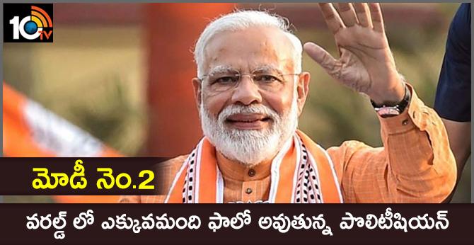 Narendra Modi second most followed politician globally: Report