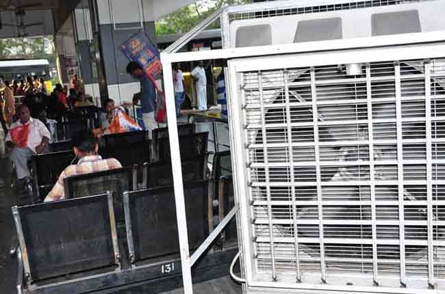 APSRTC, which has been set up by coolers in buses