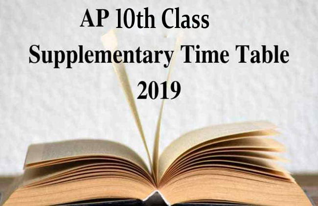AP 10th Class Supplementary Examinations Time Table Released