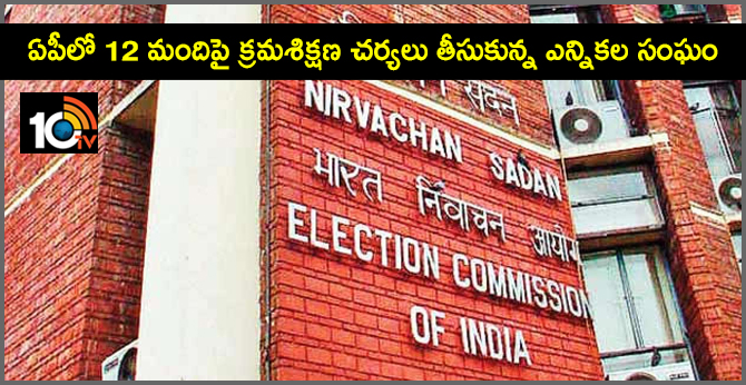 election commission takes action against officials