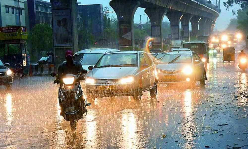 High Clouds Covering Hyderabad: Heavy Rainfall
