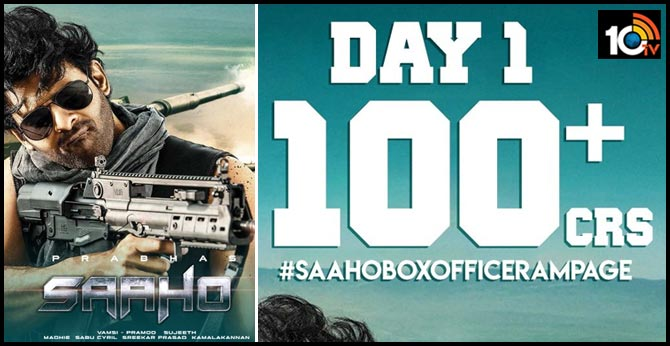 Saaho Grossed more than 100 cr alone in india