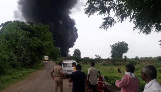 Maharashtra massive fire at chemical factory
