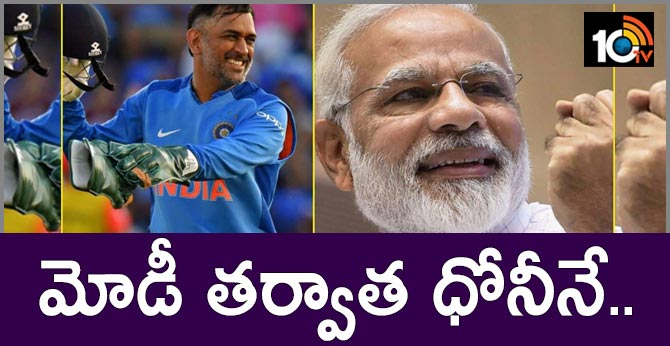 After PM Modi, MS Dhoni most admired man in India