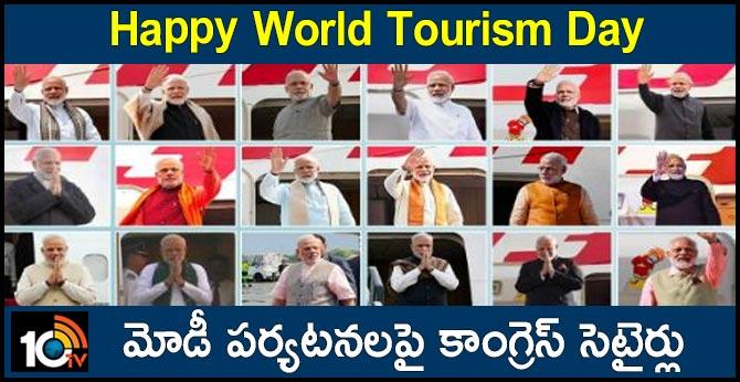 CONGRESS SATIRES ON MODI OVER WORLD TOURISM DAY