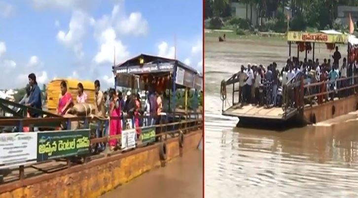 Local people demand construction of bridge over Narsapuram-Sakhinetti Palli Godavari in East West Godavari district
