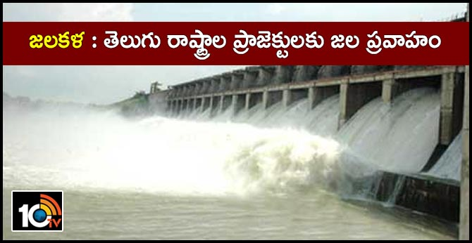 Flood water for projects in Telugu states