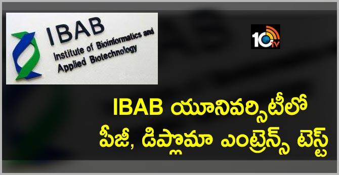 IBAB Announce PG Diploma  Entrance Test 2019