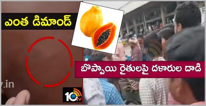 Mediums attacks on Papaya fruits formers