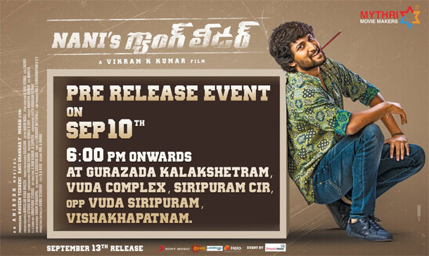 Nani's Gang Leader Pre Release Event Will Be Held In Vizag