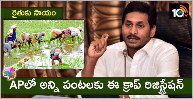 Crop registration in AP | CM Jagan Review On Agriculture Department