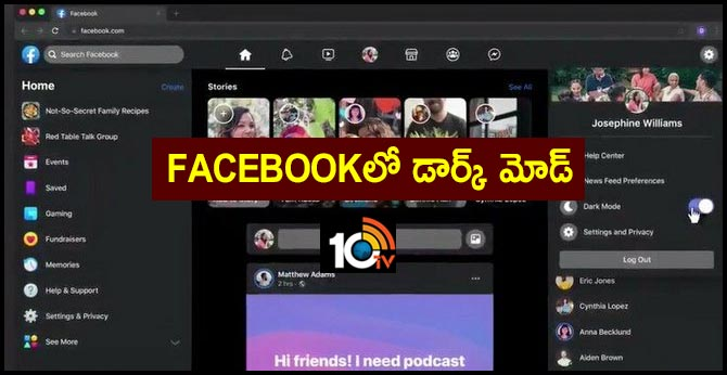 Facebook tests dark mode for its web interface