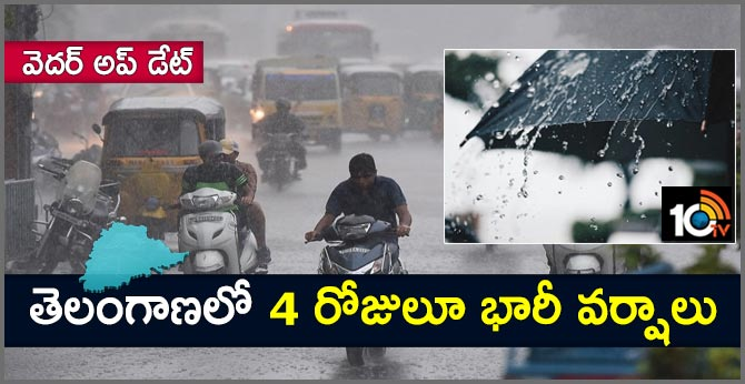 Heavy rain forecast for Telangana