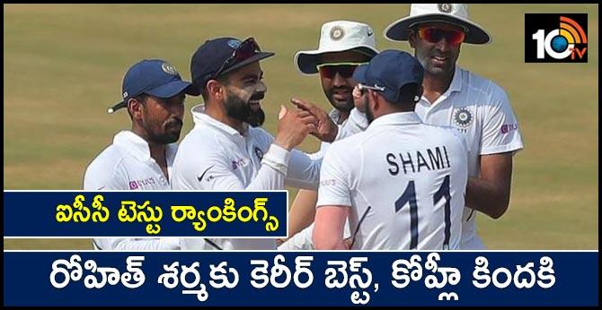 ICC Test Rankings: Rohit Sharma attains career-best spot, Virat Kohli drops below 900 points