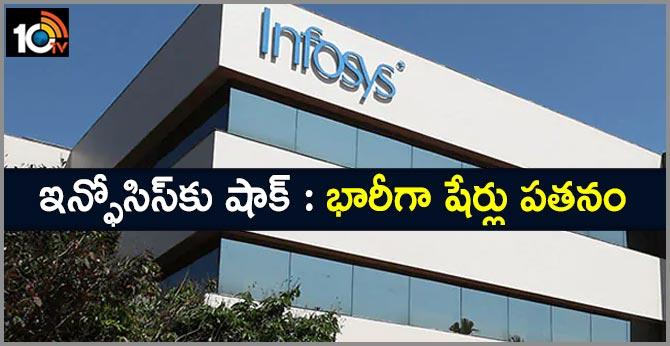 Infosys shares fall heavily