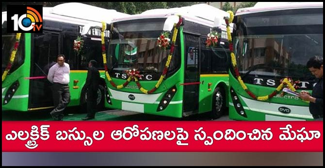 Megha Reaction On Electric Buses Allegations