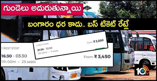 Prices of Private Bus Tickets very high
