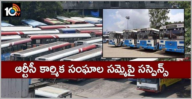 Suspence on strike of RTC trade unions