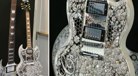 World's most expensive guitar on display at jewellery show in UAE
