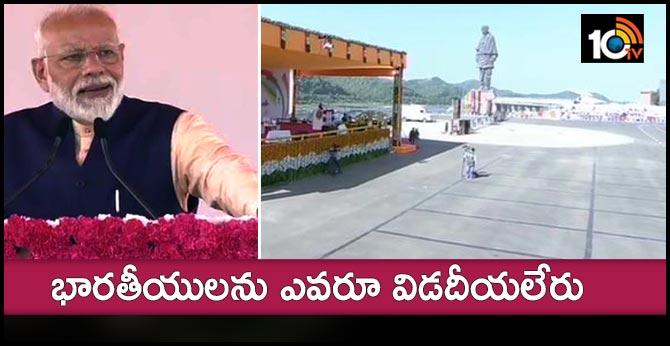 The Prime Minister modi paid tributes to the UN statue in gujarat