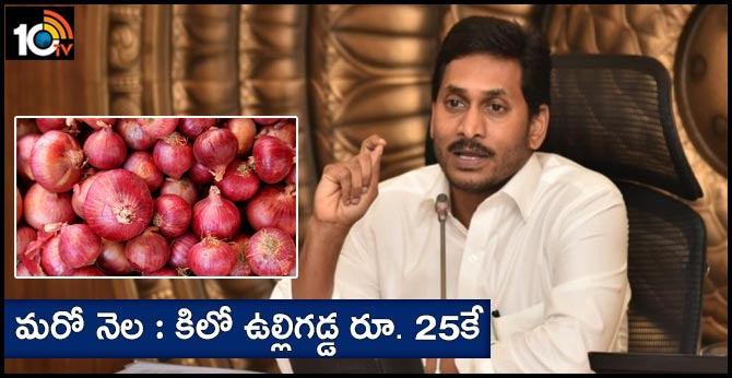 CM Jagan Review Meeting Marketing Department Officials Kg onion at Rs. 25