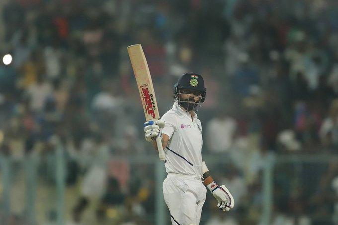 INDvsBAN: kohli out, India lead by 203 runs