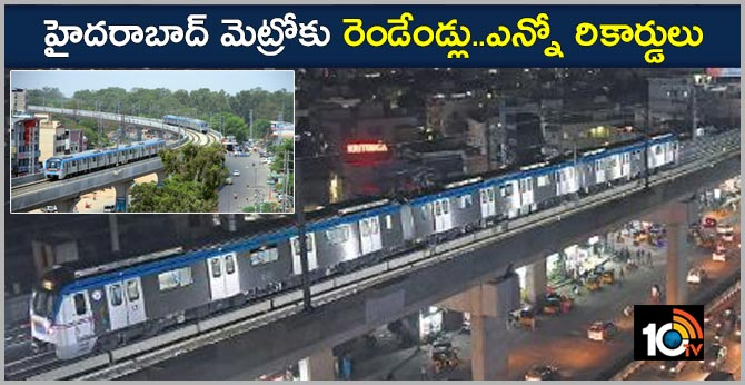 Hyderabad Metro Complete Two Years New Record