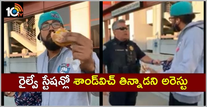 Man Arrested For Eating Sandwich on San Francisco Train Platform Video Goes Viral