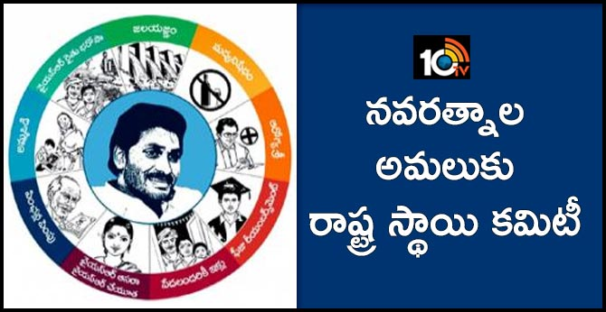 State level committee for implementation of Navaratnalu