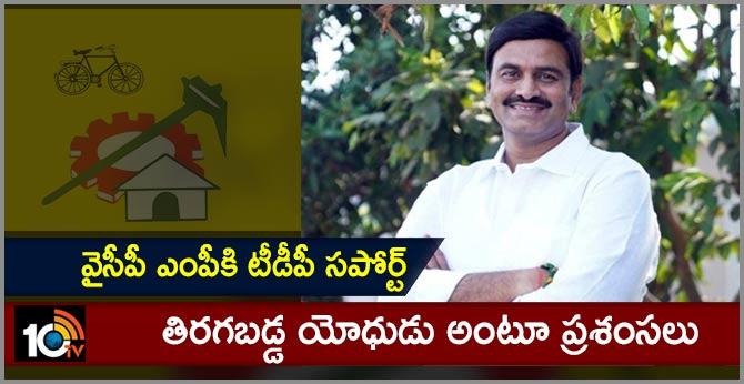TDP Supports YCP MP Raghurama Krishnam Raju