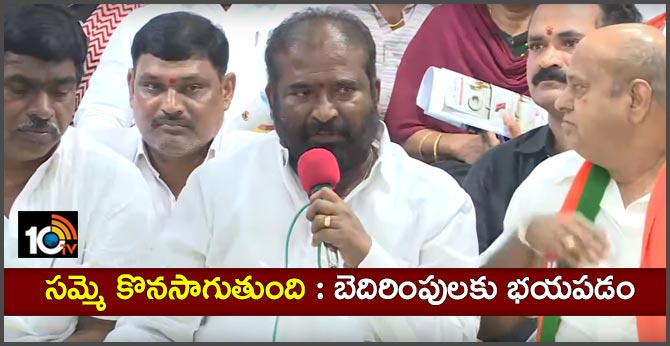 TSRTC JAC Convenor Ashwathama Reddy press meet  on CM KCR comments