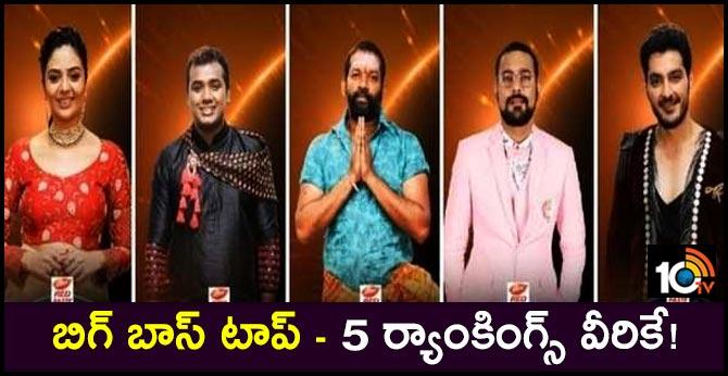 Big Boss3 Telugu : Top 5 Rankings List