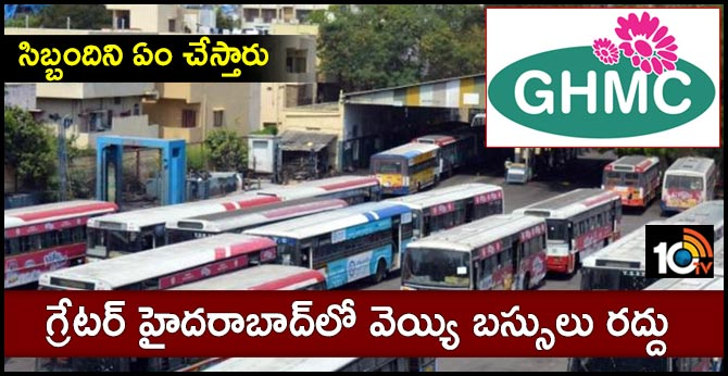 1000 buses cancel in ghmc