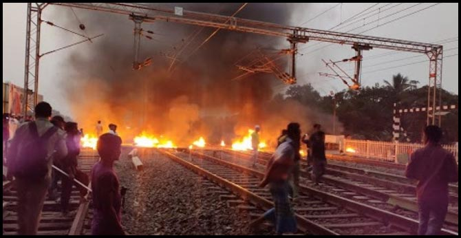 Citizenship Amendment Act Protest Railway Stations Set On Fire
