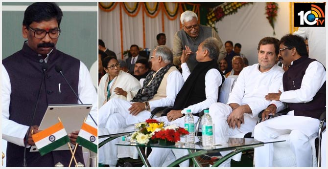 At Hemant Soren's Oath Ceremony In Jharkhand, A Show Of Opposition Unity