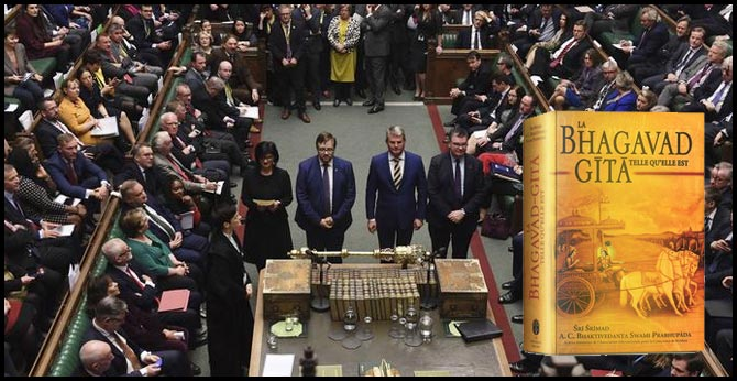 Indian-origin lawmakers take oath on Bhagavad Gita in UK's House of Commons